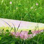 草原にキャンバス