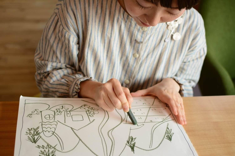 アートセラピーとデザインの店「私の机」ロゴ画像